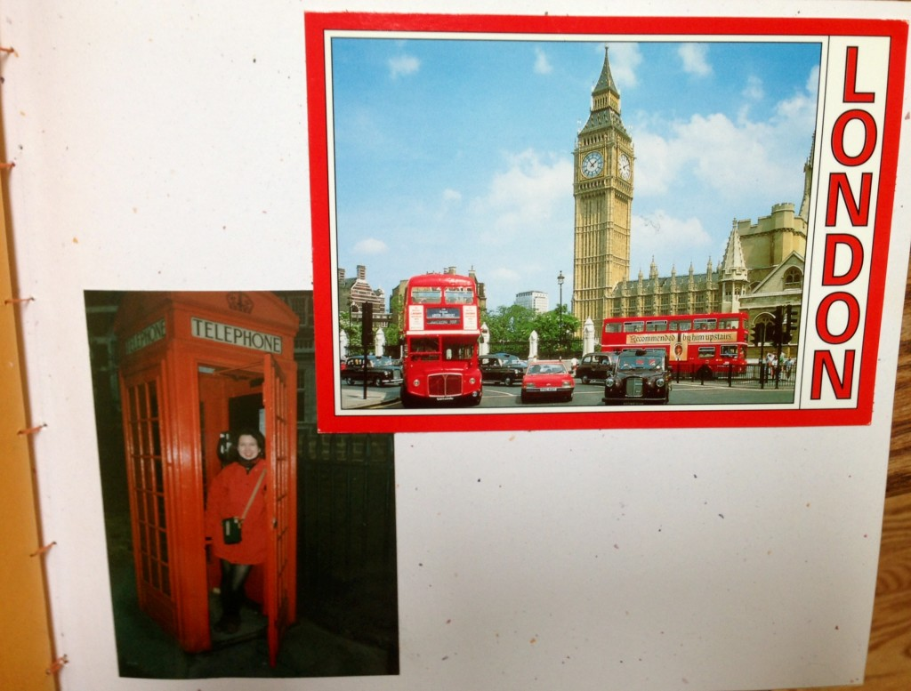 Me in a Red Phone Booth/London postcard (1996)