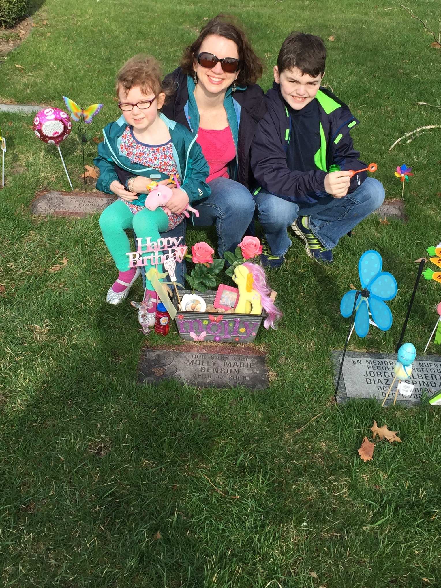 We Started The Day Visiting Your Grave At Cemetery Placed Decorations Sang Happy Birthday To You Blew Bubbles Again In Lieu Of Releasing